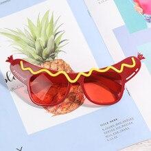 1 pçs engraçado feliz aniversário óculos de sol festa de aniversário tropical vestido extravagante favores diversão festa de aniversário foto adereços supplie