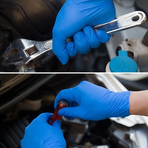 100pcs Blue Universal Security Gloves Prevent Bacteria Disposable Latex Gloves Dishwashing Kitchen Work Rubber Garden Gloves