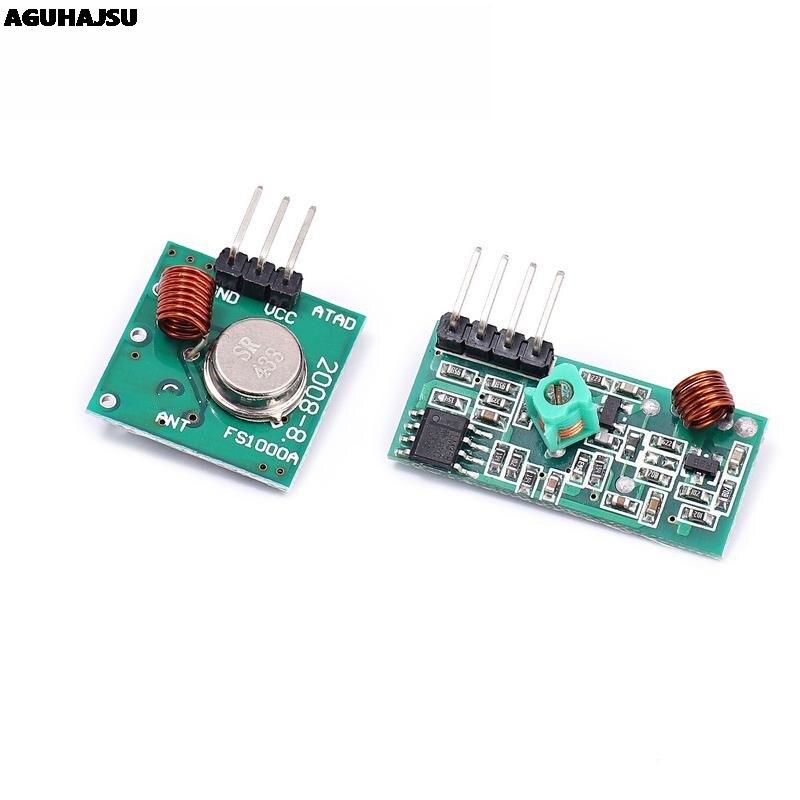 433 МГц РЧ беспроводной передатчик Модуль и приемник комплект 5 В DC 433 МГц беспроводной для Arduino Raspberry Pi/ARM/MCU WL Diy Kit