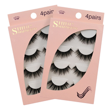 New 15mm Lashes 3D Mink False Eyelashes 4 Pairs Make up Full Strip Lashes 3D Mink Lashes Fluffy Faux Cils Soft Maquiagem Cilios