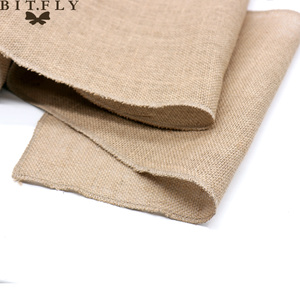 Image 2 - 1pcs Natural Hessian Jute Burlap Table Runner   Wedding Stand Arch Chair Sashes Decoration Birthday Banquet Event Party Supply