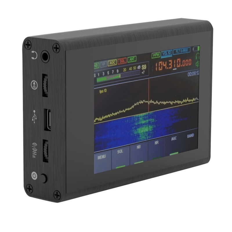 Новый 50 кГц-200 МГц Малахитовый SDR am-радиоприемник Malahit DSP 3,5 дюймов Пресс Sn DSP SDR HAM приемник