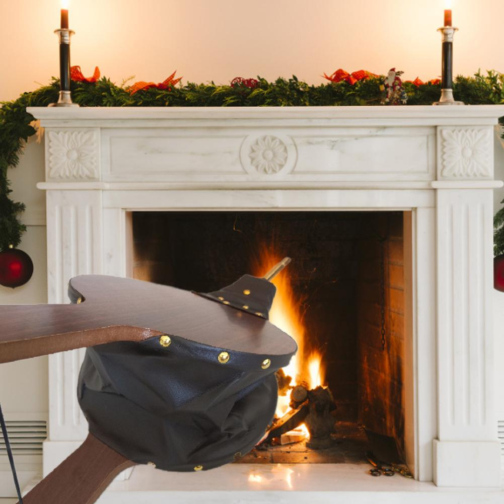 Antique Wooden Fireplace Blower Manual Blower Leather Tiger Blower Roasting Fire Barbecue Tool Christmas Eve Decorations
