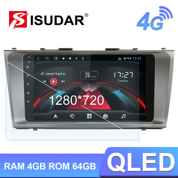 Isudar H53 4G Android 1 Din Auto Radio For Toyota Camry 7 XV 40 2006-2011 Car Multimedia GPS 8 Core RAM 4GB Camera DSP IPS DVR