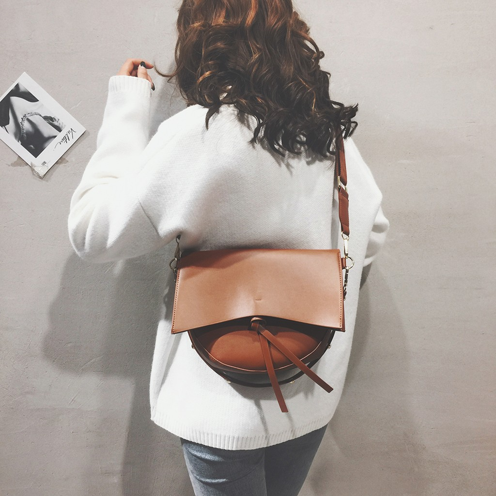 Crossbody Bag For Women Messemger Bags Pu Leather 2019 New Fashion Bag Casual Wild Simple Shoulder Messenger Bag Bolso Hombre