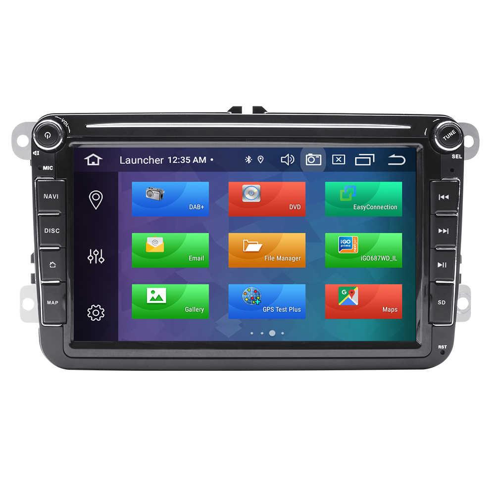 2 דין אנדרואיד 10 מולטימדיה לרכב GPS ניווט עבור Amarok Volksagen פולקסווגן פאסאט B6 סקודה אוקטביה 2 מעולה 2 מושב ליאון גולף 56 רדיו