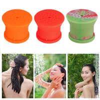 Portable Outdoor Silicone Shower Head Camping Bathing Supplies Multifunction Flower Sprinkler Waterbottle Emergency Bath Head