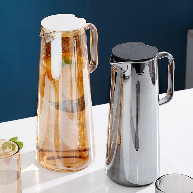 Kitchen Accessories 1.35/1.8l Water Bottle Heating Household Juice Pot Borosilicate Kitchen Dining Bar Glass Espresso Cups Tea