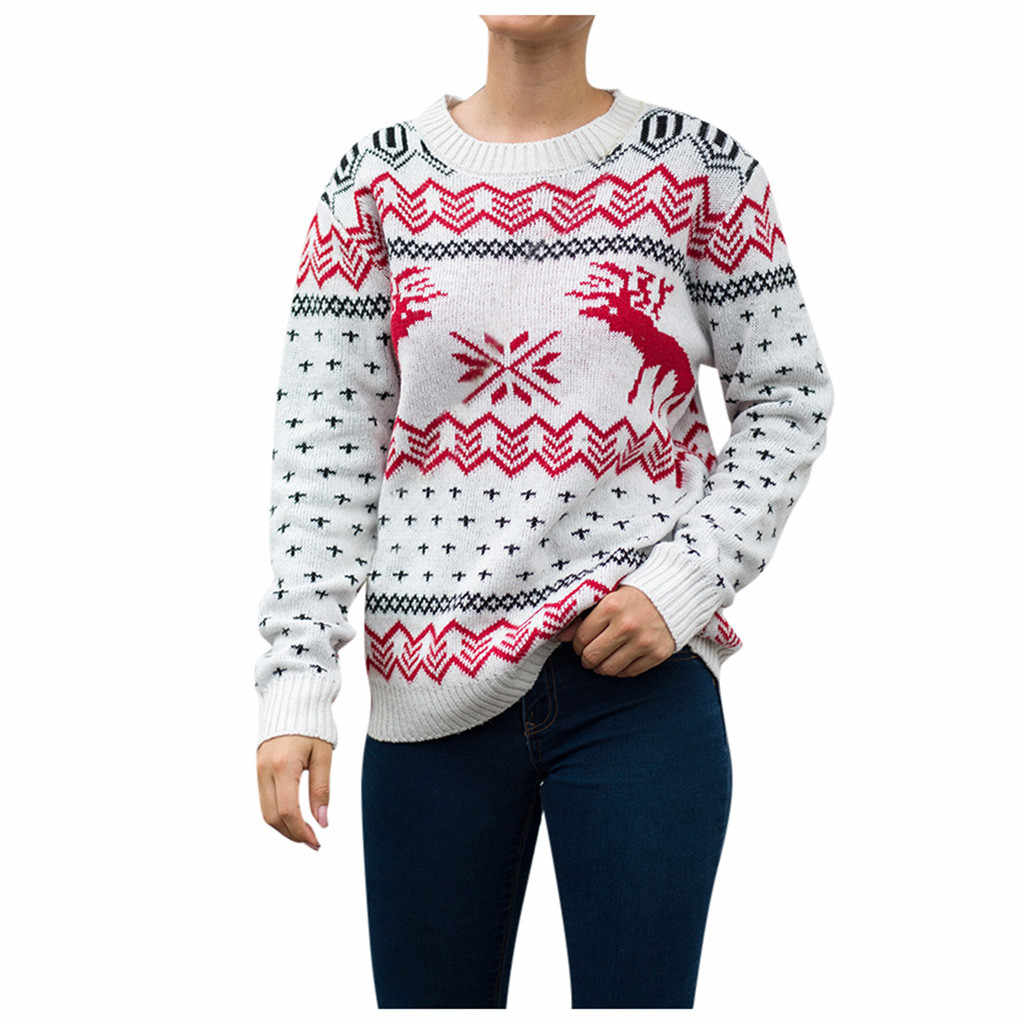 JAYCOSIN Women Sweater Fashion 2019 Christmas Tree knitting Sweater Tops female Tree knitting Sweaters Tops costume casual top