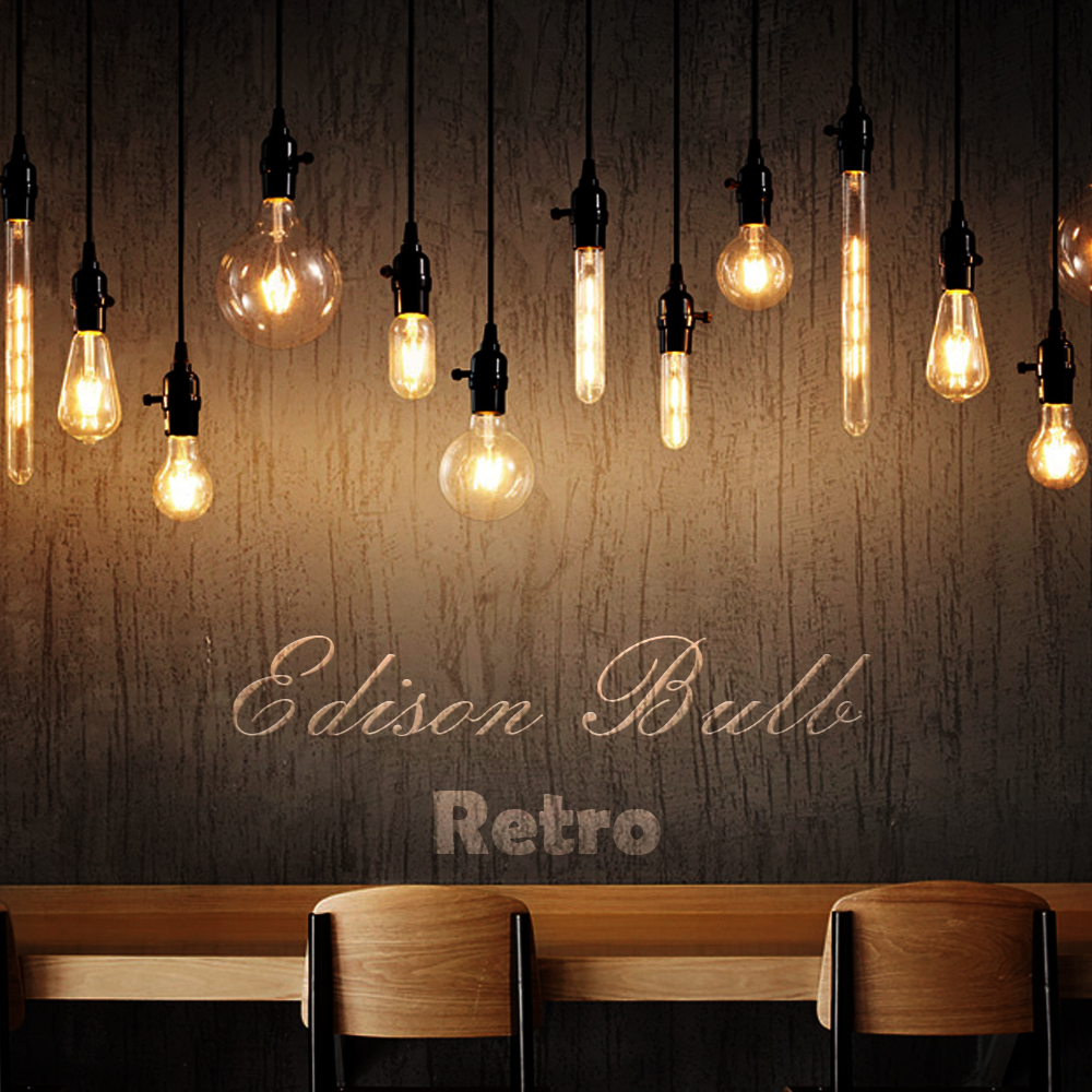 LED Candle Bulb E14 Vintage C35 Filament Light E27 Edison Globe Lamp 220V G95 Clear/Amber 2W 4W 6W 8W