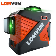 LOMVUM 3D Laser Level 12 Lines Green Beam 360 Vertical Horizontal Self-Leveling Wall Mounting Tripod Base Included(China)