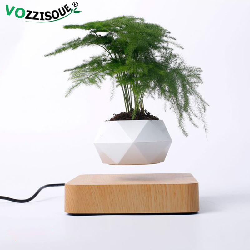 Hot Sale Levitating Air Bonsai Pot Rotation Planters Magnetic Levitation Suspension Flower Floating Pot Potted Plant Desk Decor 1