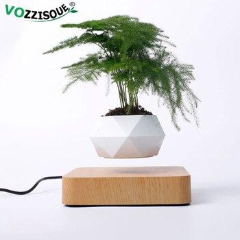 Gran oferta de macetas de aire levitante para bonsái, macetas de rotación con suspensión magnética para levitación, maceta flotante para flores, decoración de escritorio para plantas en maceta