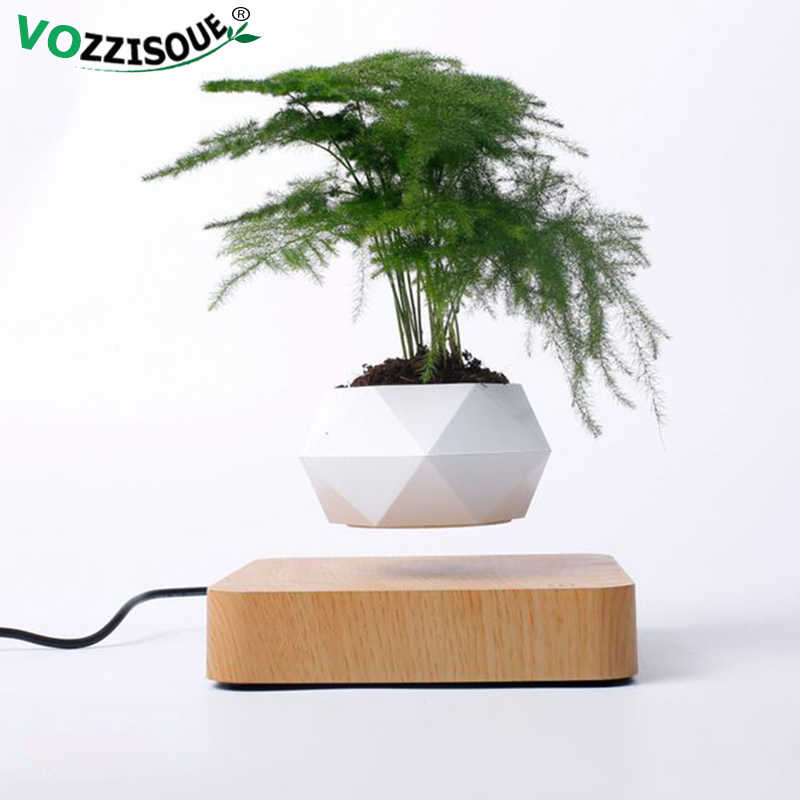 Vendita calda Levitazione Aria Bonsai Vaso di Rotazione Fioriere Levitazione Magnetica Sospensione Fiori Galleggiante Pentola Pianta In Vaso Scrivania Decorazione