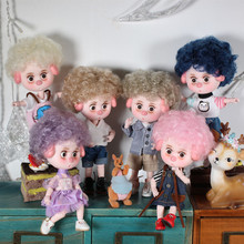 Dream Fairy 1/12 BJD No.2 DODO Pigies Doll with hair 14cm mini doll 26 joint body Cute children gift toy ob11