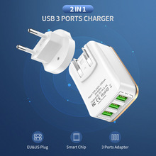 2 in 1 USB Charger For iPhone 7 X XS XR 3.4A Max Fast Phone Charger For Samsung Xiaomi Huawei Travel Wall Charger EU US Adapter цены