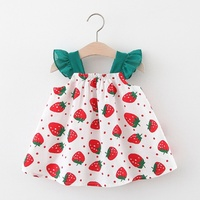 Baby Dress Girls Clothing 2020 Summer New Children Female Cotton A Line Dress Kids Clothes Floral Princess Tutu Dresses