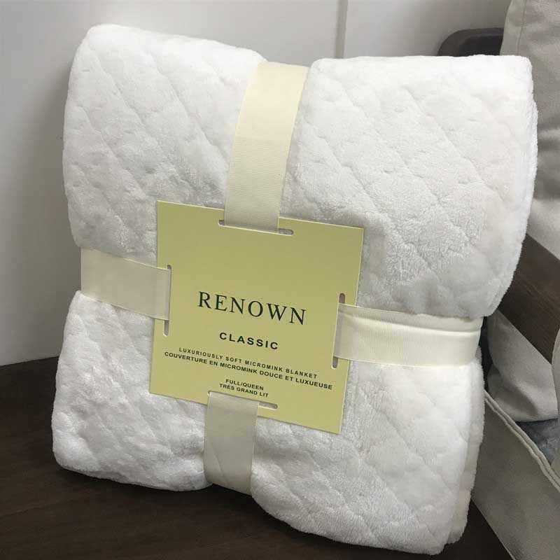 Home Warm Flannel Blanket Office Quilt Cover Bedspread Fleece Travel Picnic Blanket Baby Sleeping Comforter