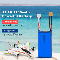 11.1V 1100mAh 20C Lithium Battery for Wltoys XK X450 RC Airplane Fixed Wing