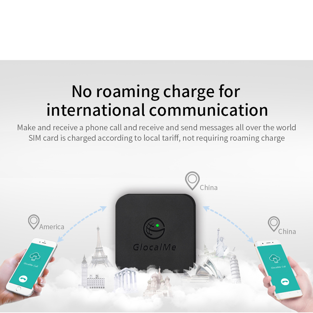 Glocalme Call Multi SIM Dual Standby No Roaming Abroad 4G SIMBOX for iOS & Android  No Need Carry WiFi / Data to Make Call &SMS 6