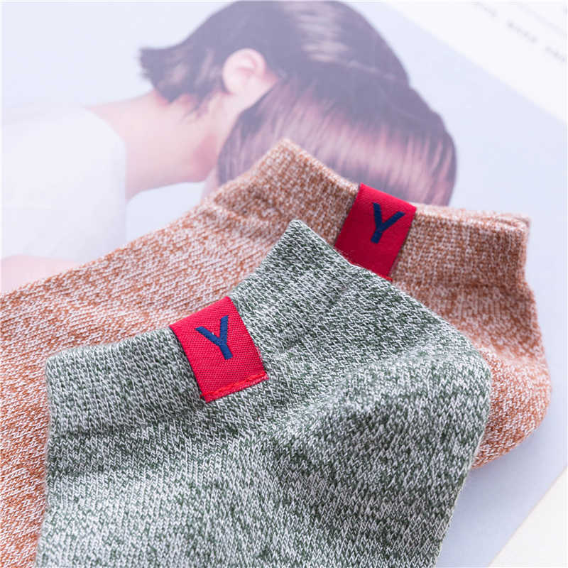 Venda quente dos homens Meias meias de algodão macio Para As Mulheres Homens Casual Primavera Verão Outono Curto Moda Masculina Meia com Carta Lable