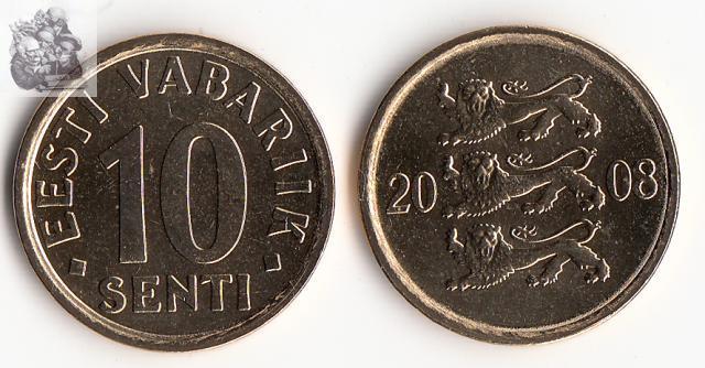Estonia 10 Cents Coin Europe New Original Coins Unc Commemorative Edition 100% Real Rare Eu Random Year