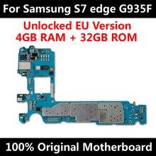 Carte mère déverrouillée complète pour carte mère dorigine Samsung Galaxy S7 edge G935F avec puces IMEI Android OS carte mère Version ue