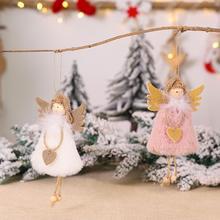 Christmas Doll Drop Ornaments Lint Cloth Plush Elf Angel Pendant Christmas Tree Decoration