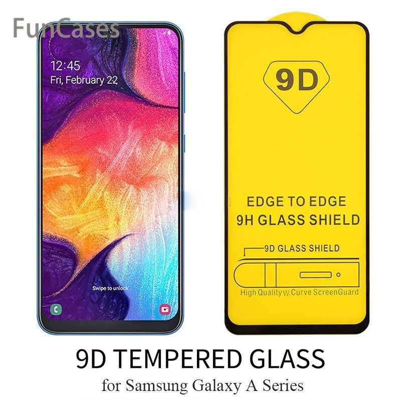 Verre trempé incurvé 9D sur le pour Samsung Galaxy A10 A20 A30 protecteur d'écran pour Samsung A40 A50 A60 A70 A80 A90 Sklo