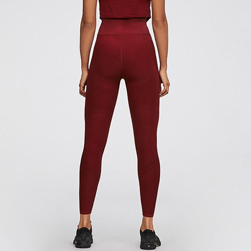 Бесшовные леггинсы с высокой талией, женские спортивные штаны пуш-ап для фитнеса, бега, йоги, энергетические бесшовные леггинсы для