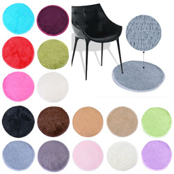 40cm High Quality Silky Acrylic Fiber Round Fitness Yoga Chair Pad Bedrrom Living Room Area Rugs Sitting Room Furry Blanket