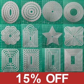 Frames Square Card Curves Border Metal Cutting Dies for DIY Scrapbook Cutting Die Paper Cards Embossed Decorative Craft Die Cut