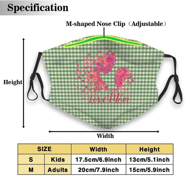 Women & Men Earloop Half Face Face Mask Face Masks Anti-Dust Face and Nose Cover - Cool Soft Windproof Ski Mouth Mask for Kids 1