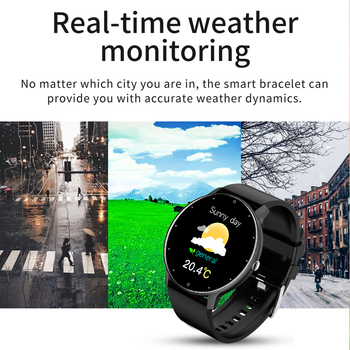 LIGE New 2021 Full touch Female Digital watch waterproof Sports suitable for Android IOS multifunction Electronic watch male+Box 3