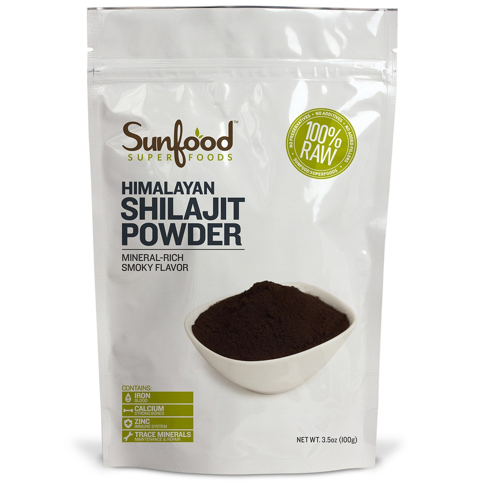 Sunfood Shilajit Powder Himalayan Xilaizhi Powder Original Unprocessed Vegetarian Relief Anxiety And Stress,Prolong Life