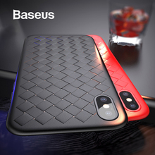 Baseus Luxury Grid Pattern Case For iPhone X Cases Ultra Thi