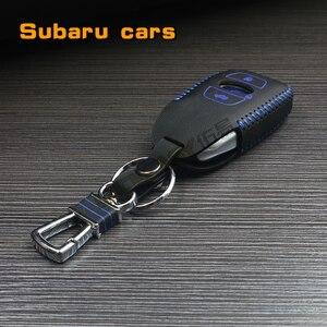 Чехол для автомобильных ключей, из натуральной кожи, для Subaru XV BRZ Forester Legacy Outback, key2a
