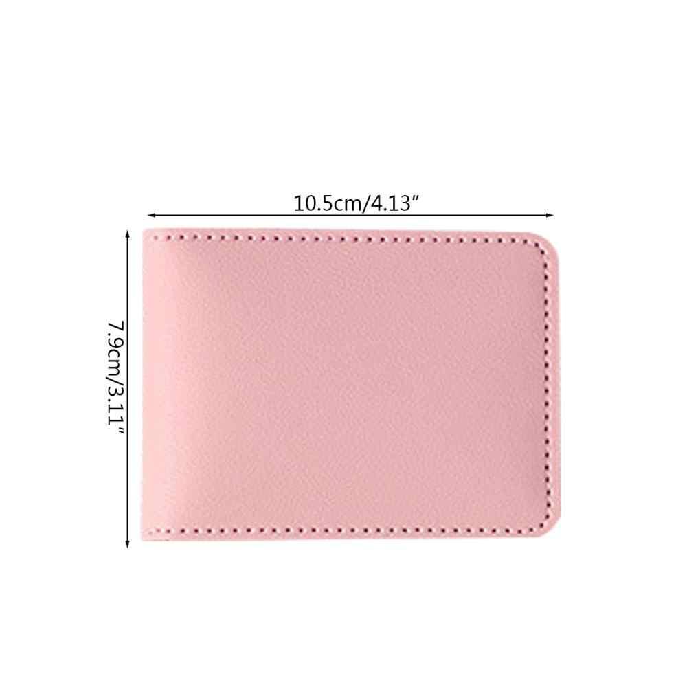 De licencia de conductor bolsa de cuero de la PU cubierta para coche tarjeta monedero cartera