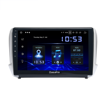 10.2 IPS Car Android 10 Multimedia Player for Peugeot 2008 208 2012 2013 2014 2015 2016 GPS Navigation DSP MAX6 image