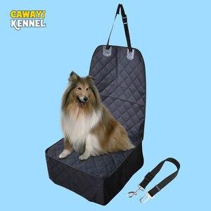 Image 1 - CAWAYI kulübesi Pet taşıyıcılar ön klozet kapağı arabalar için çapa ile su geçirmez köpek araba klozet kapağı taşıma küçük köpekler için PS6892