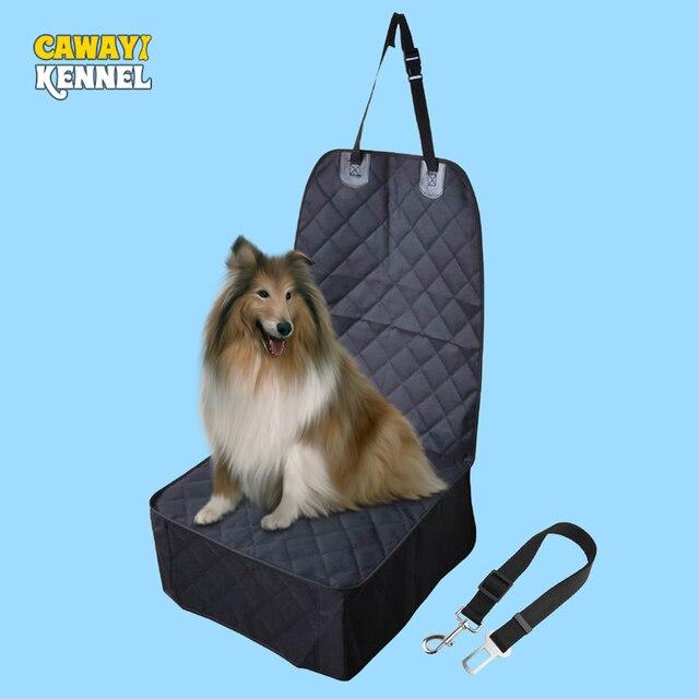 CAWAYI kulübesi Pet taşıyıcılar ön klozet kapağı arabalar için çapa ile su geçirmez köpek araba klozet kapağı taşıma küçük köpekler için PS6892