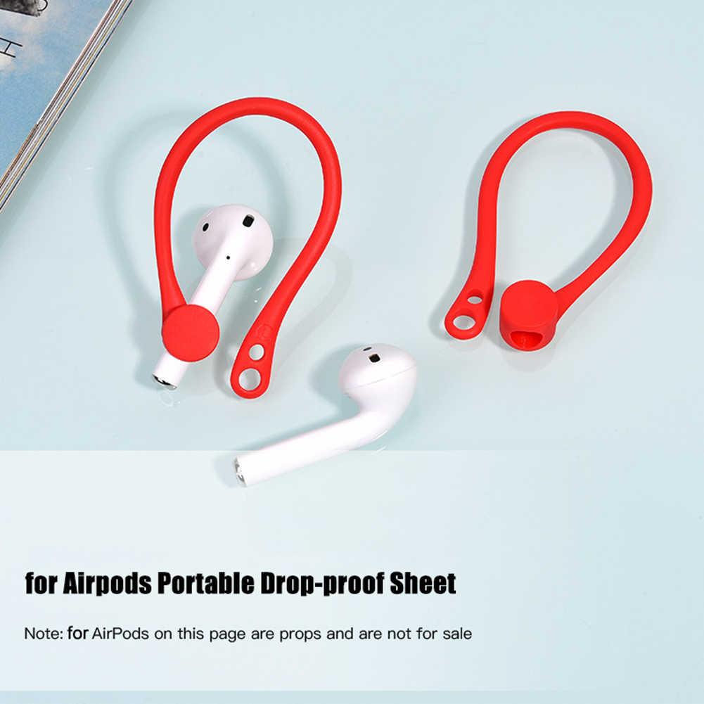 2 قطعة صغيرة مضادة للسقوط سماعة رأس بخاصية البلوتوث سماعات الأذن حامل سماعة هوائية القرون 1 2