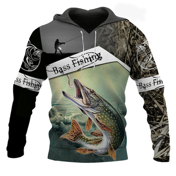 2020 New Fashion Animal Fishing Art Sweatshirt Harajuku Casual Hoodies Tracksuit Funny 3D Printed Jacket Mens Clothing Womens plstar cosmos new fashion animal fishing art harajuku casual tracksuit funny 3d print hoodies sweatshirt jacket mens womens 31
