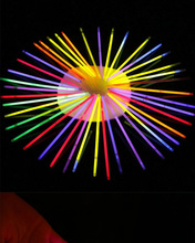 10Pcs Fluorescence Light Glow Sticks Bracelets Birthday Christmas Party Event Festival Concert Supplies Luminous Prop недорого