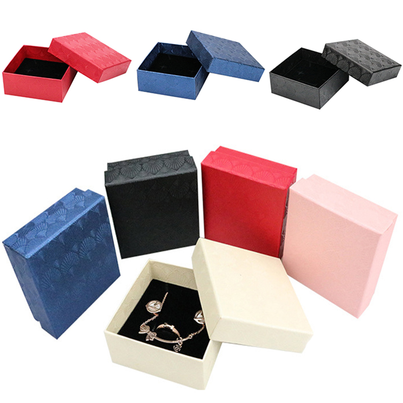 Square Scallop Jewelry Box Ring Necklace Earring Bracelet Box Organizer Wedding Engagement Jewelry Display Gift Box Holder