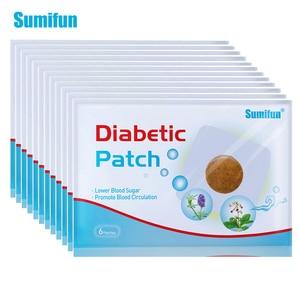 Image 1 - 120 pces = 20 sacos diabético remendo ervas chinesas estabiliza o nível de açúcar no sangue mais baixo glicose no sangue açúcar equilíbrio médico gesso d1809