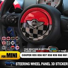 Для MINI COOPER R54 R55 R56 R60 R61 Clubman Countryman центр рулевого колеса 3D выделенный автомобильный стикер наклейка крышка аксессуары