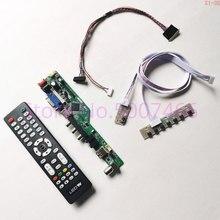"""Para N156BGE L41 60Hz WLED 15.6 """"tela do laptop LCD 1366*768 40 pin LVDS HDMI/VGA /AV/Audio/RF/USB TV56 kit placa de driver de controlador"""