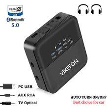 Bluetooth 5.0 Thiết Bị Thu Phát Âm Thanh Không Dây AptX LL HD Độ Trễ Thấp Truyền Hình Xe Ô Tô Tự Động Bật Tắt Jack Cắm 3.5Mm RCA Adapter Quang Học