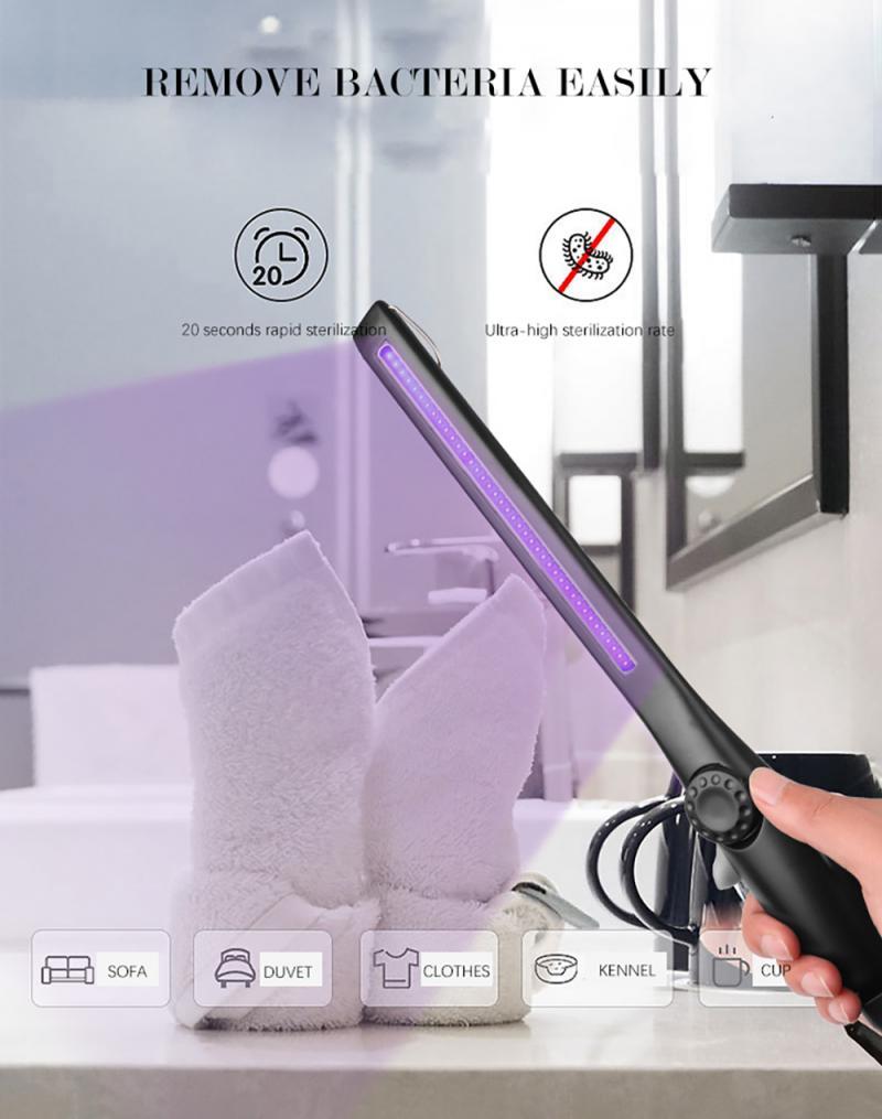 ABS портативная ультрафиолетовая бактерицидная лампа Высокоэффективная практичная перезаряжаемая USB-лампа для дезинфекции дорожные бытовы...